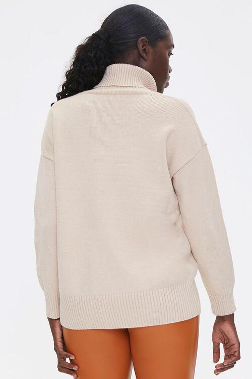 Ribbed Turtleneck Sweater, image 3