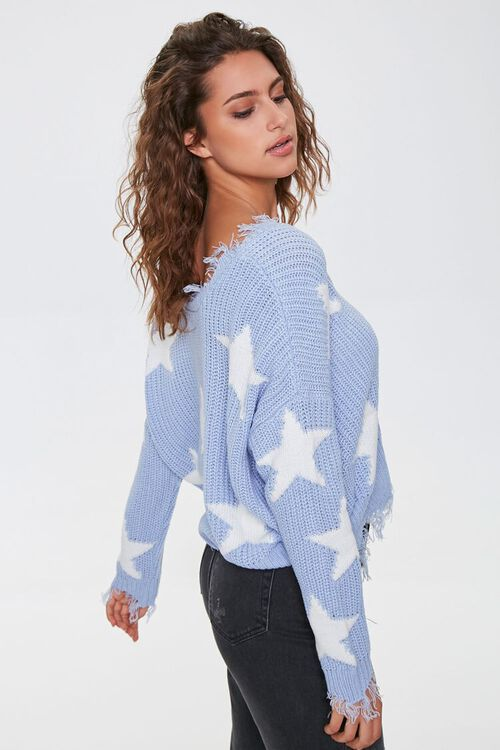 Distressed Star Print Sweater, image 2