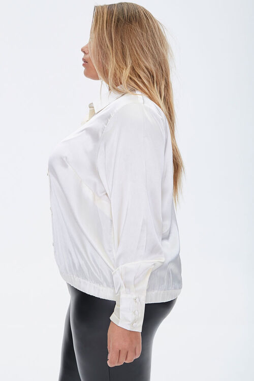 Plus Size Satin Shirt, image 2