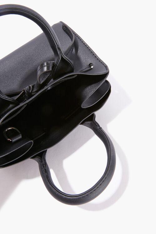 Faux Leather Tie Satchel, image 3