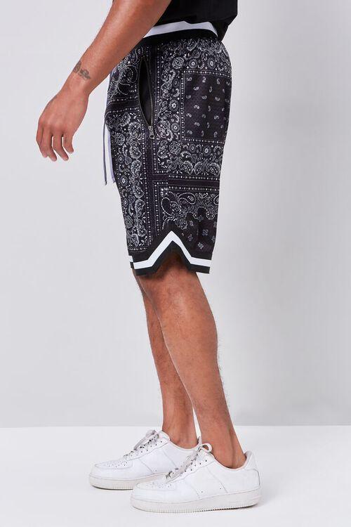 Bandana Print Drawstring Shorts, image 3