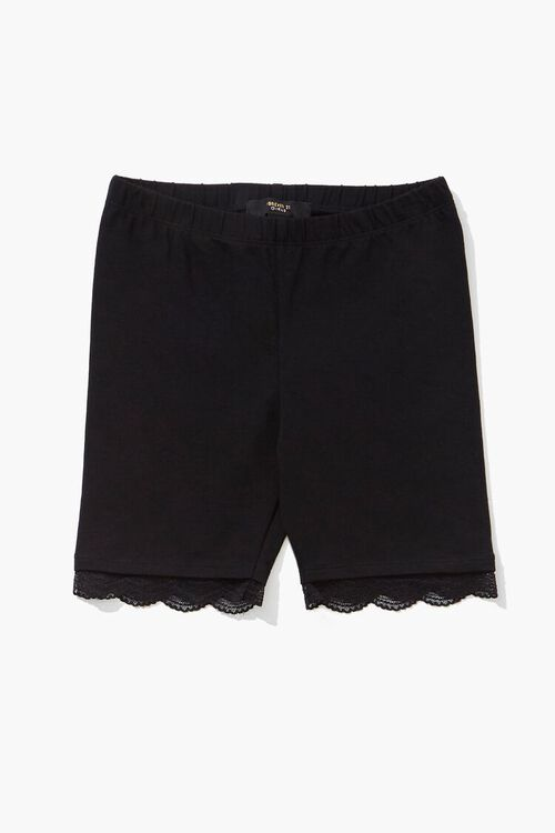 Girls Lace-Trim Biker Shorts (Kids), image 1