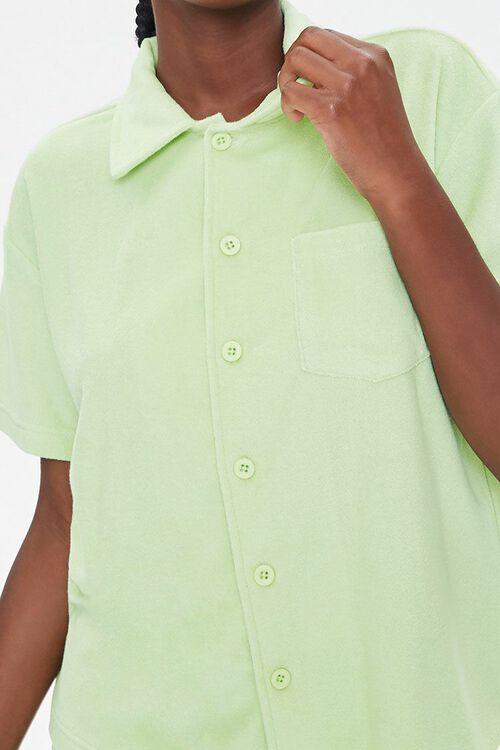 Terry Cloth Shirt & Shorts Set, image 5