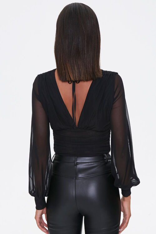 Ruched Plunging Top, image 3