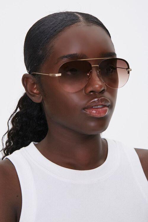 Rimless Aviator Sunglasses, image 2