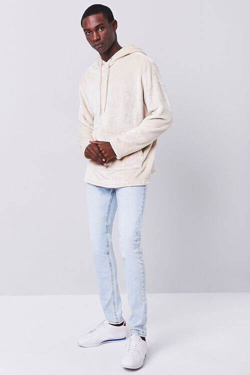 TAUPE Fuzzy Knit Hoodie, image 4