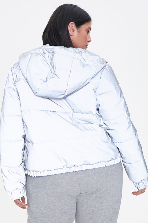 Plus Size Reflective Zip-Up Windbreaker, image 3