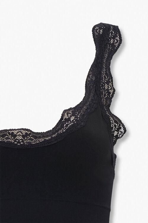 BLACK Seamless Lace-Trim Bralette, image 4