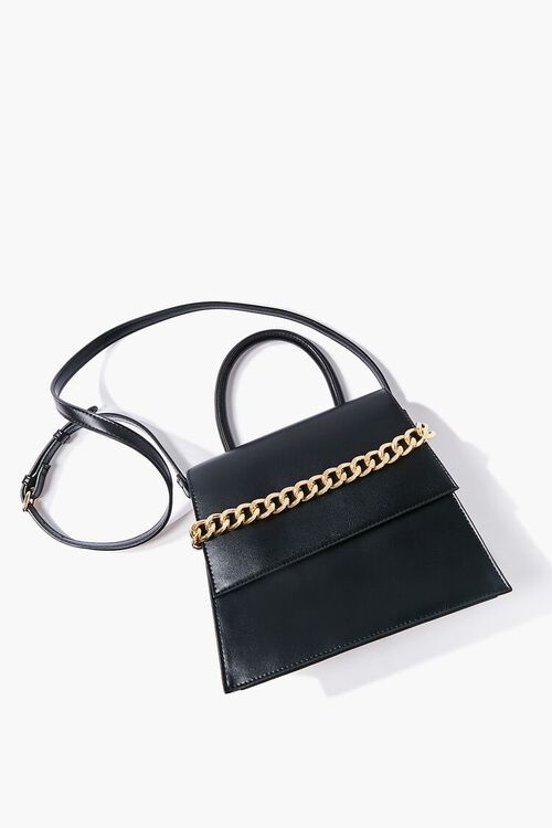 Faux Leather Structured Satchel, image 4