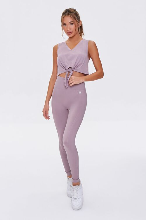 DUSTY LAVENDER Active Seamless High-Rise Leggings, image 1