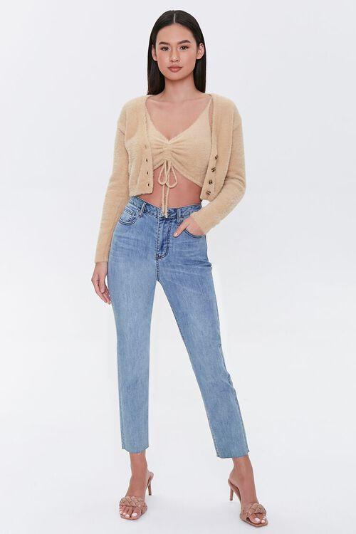 Fuzzy Cardigan Sweater, image 4
