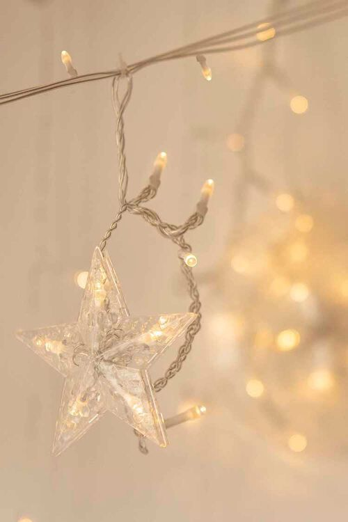 CLEAR Star Pendant String Lights, image 1