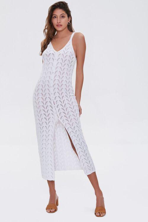 Pointelle Knit Midi Dress, image 4