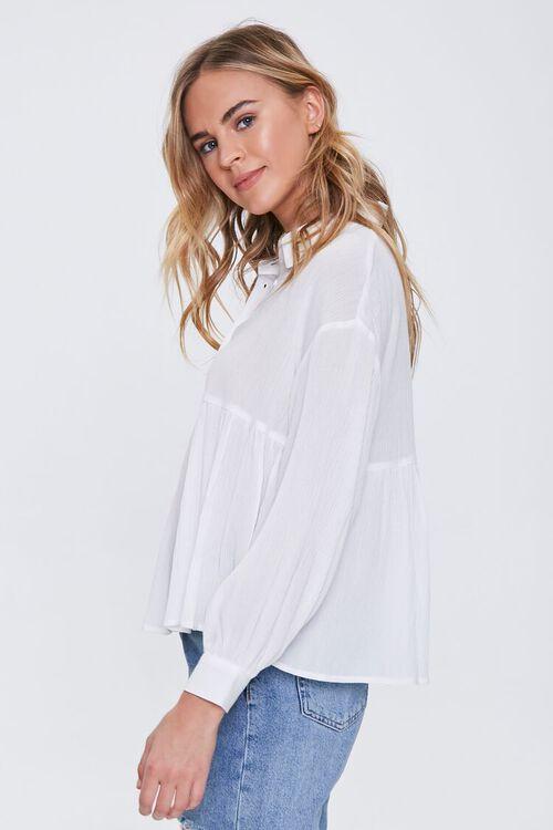 IVORY Flounce Gauze Shirt, image 2