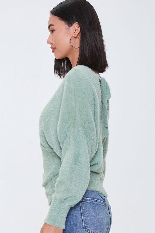 Fuzzy Knit Tie-Back Sweater, image 2