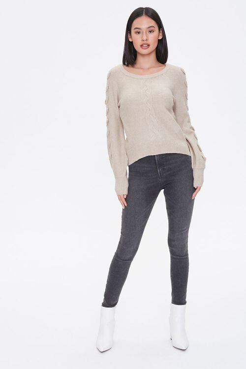 Lace-Up Sleeve Sweater, image 4