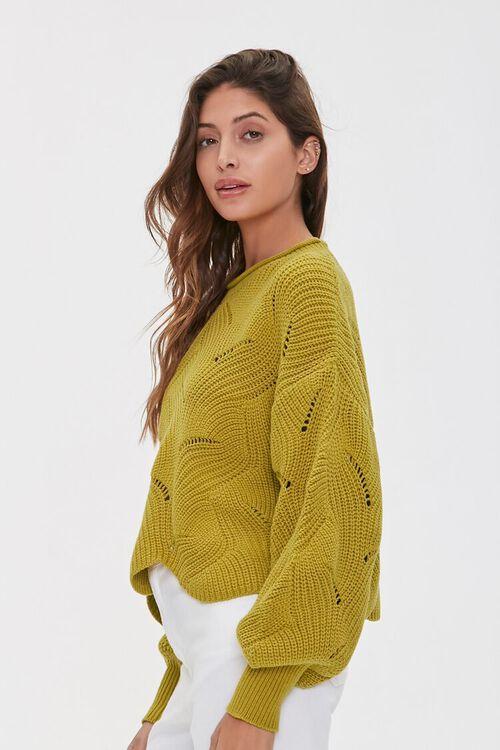 Scalloped Balloon-Sleeve Sweater, image 2