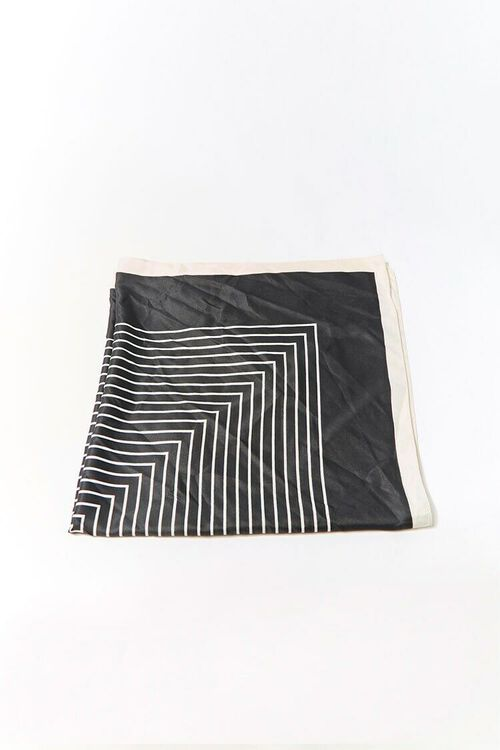 BLACK/WHITE Geo Print Square Scarf, image 1
