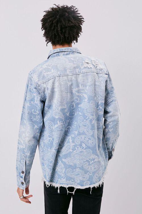 Paisley Print Denim Jacket, image 3
