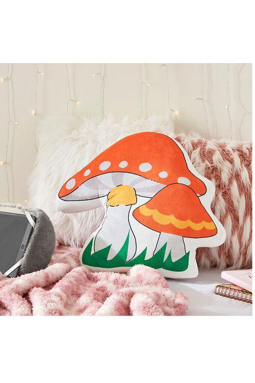 ORANGE/MULTI Mushroom Throw Pillow, image 1