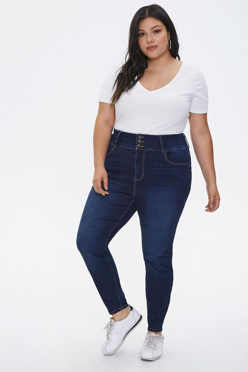 Plus Size Curvy-Fit Skinny Jeans, image 1