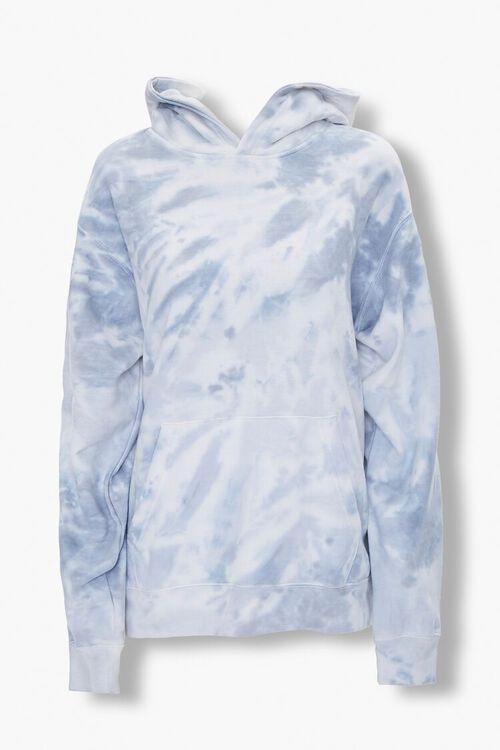 GREY/MULTI Tie-Dye Fleece Hoodie, image 1