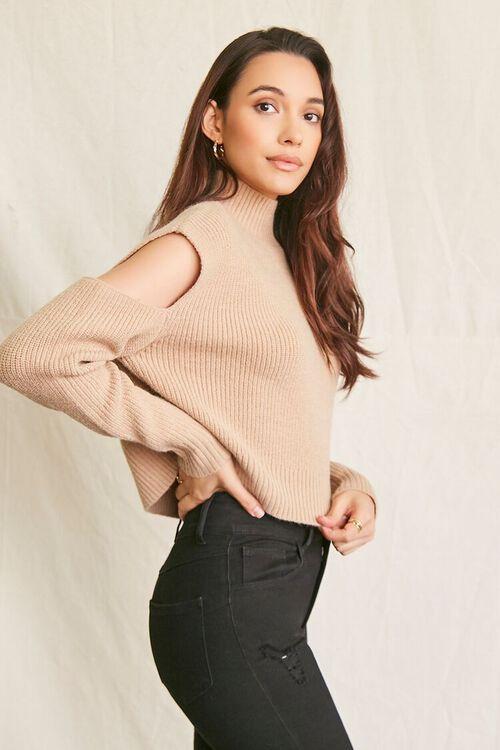 CAMEL Ribbed Cutout Sweater, image 2
