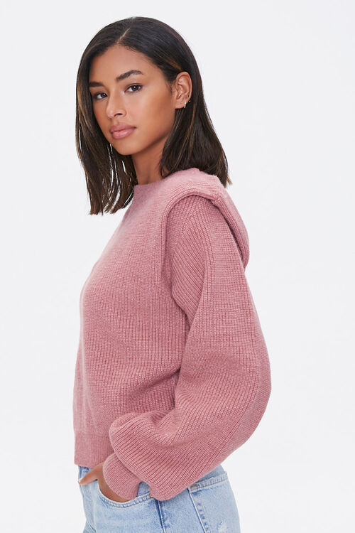 Ribbed Shoulder-Pad Sweater, image 2