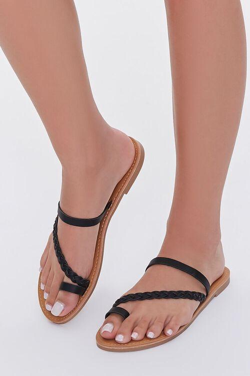 Braided Toe Loop Sandals, image 1