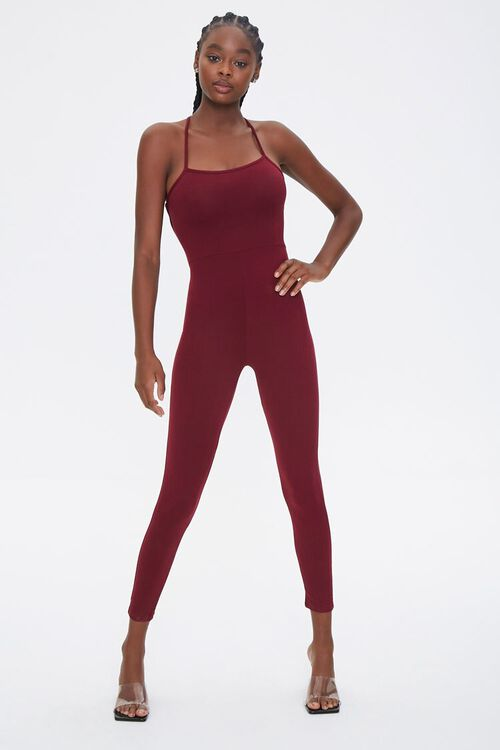 Lace-Back Fitted Jumpsuit, image 4