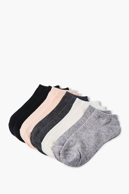 BLACK/PEACH  Assorted Ankle Socks - 5 Pack, image 2