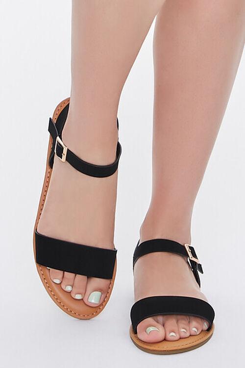 Faux Suede Open-Back Sandals, image 4