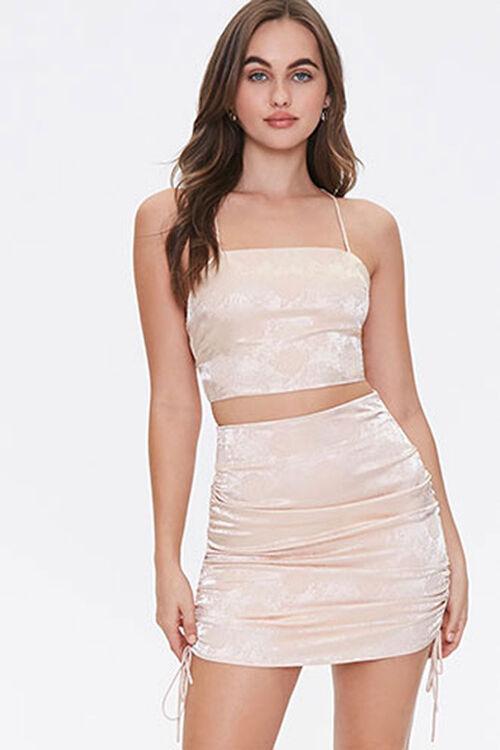 Satin Cropped Cami & Skirt Set, image 4