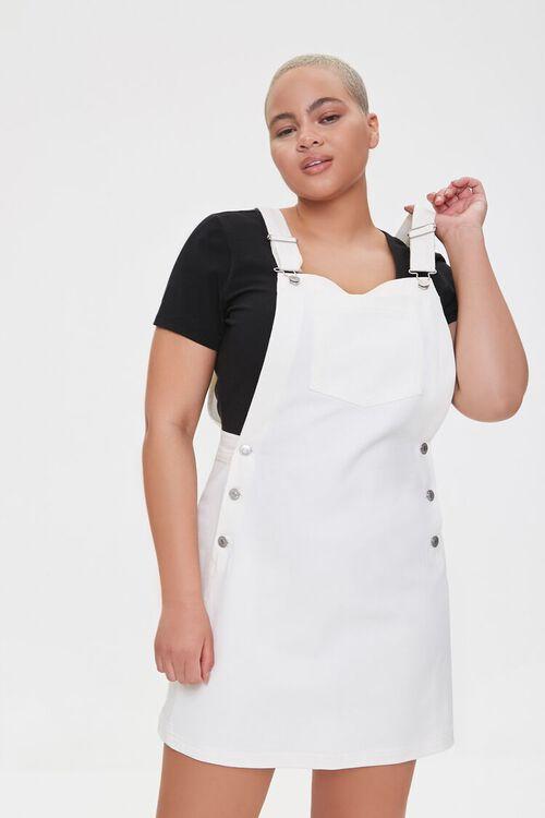 CREAM Plus Size Denim Overall Dress, image 1
