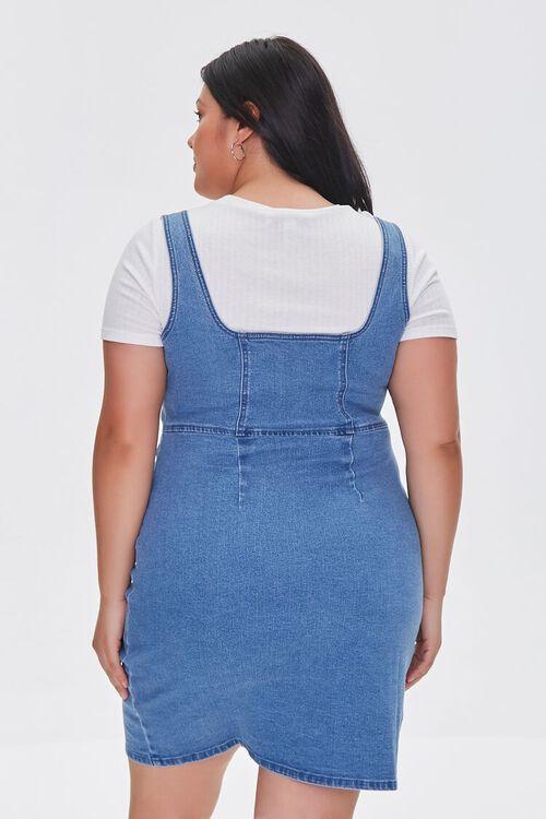 Plus Size Denim Pinafore Dress, image 3