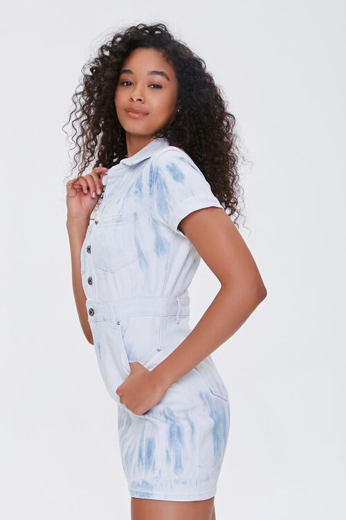 Bleach Dye Denim Mini Dress, image 2