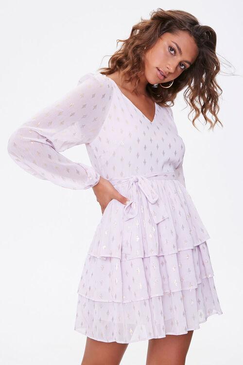 Diamond Print Mini Dress, image 1