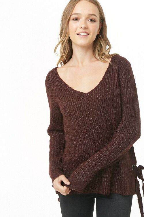 PLUM Vented Marled Knit Sweater, image 1