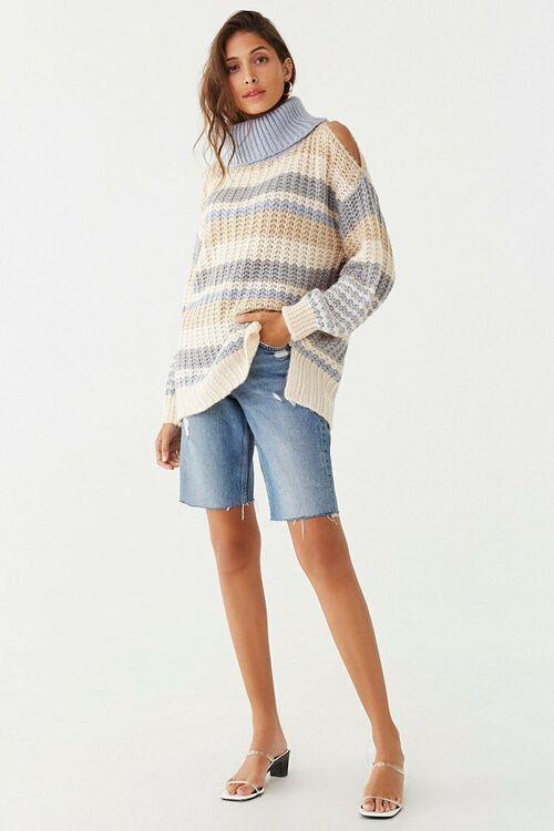 Striped Knit Turtleneck Sweater, image 4