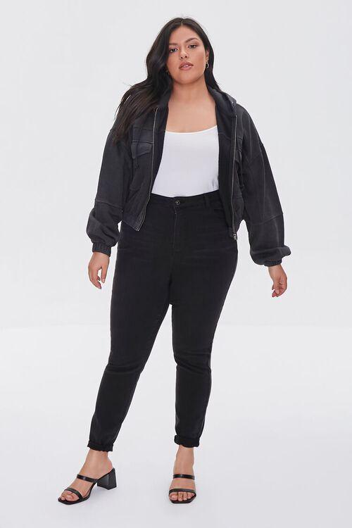 Plus Size Hooded Flap-Pocket Jacket, image 4