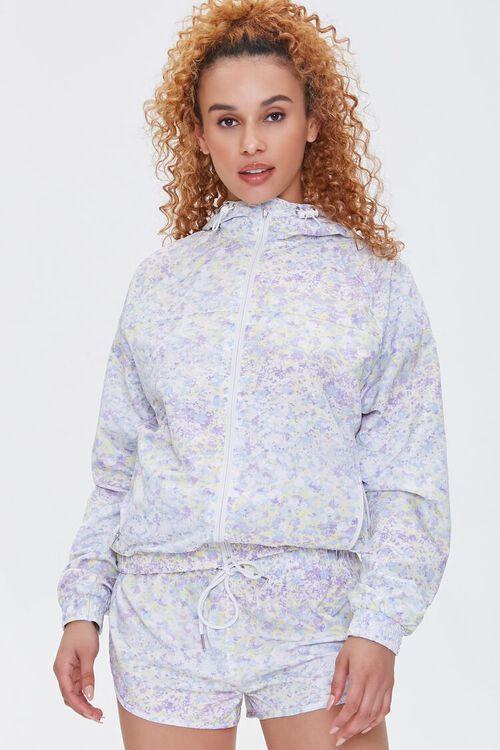 Active Floral Print Shorts, image 1