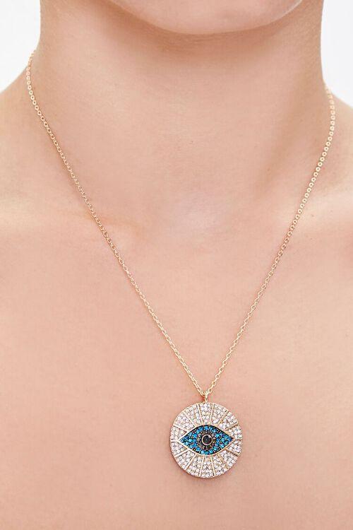 GOLD Eye Pendant Necklace, image 1