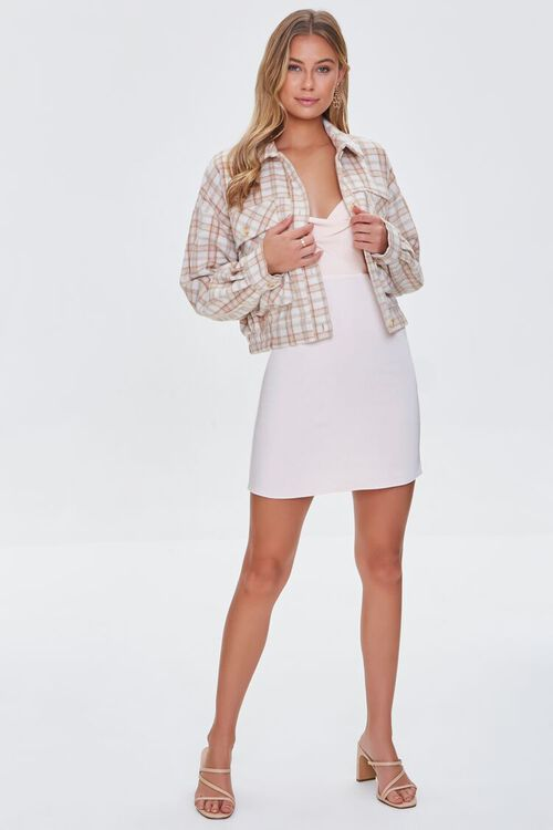 CREAM/MULTI Plaid Button-Front Jacket, image 4