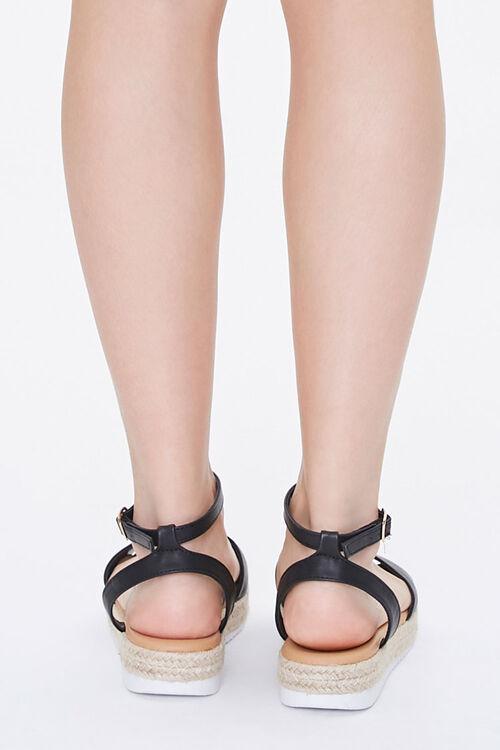 Faux Leather Espadrille Sandals, image 3