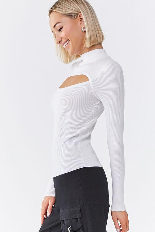 Ribbed Cutout Sweater, image 2