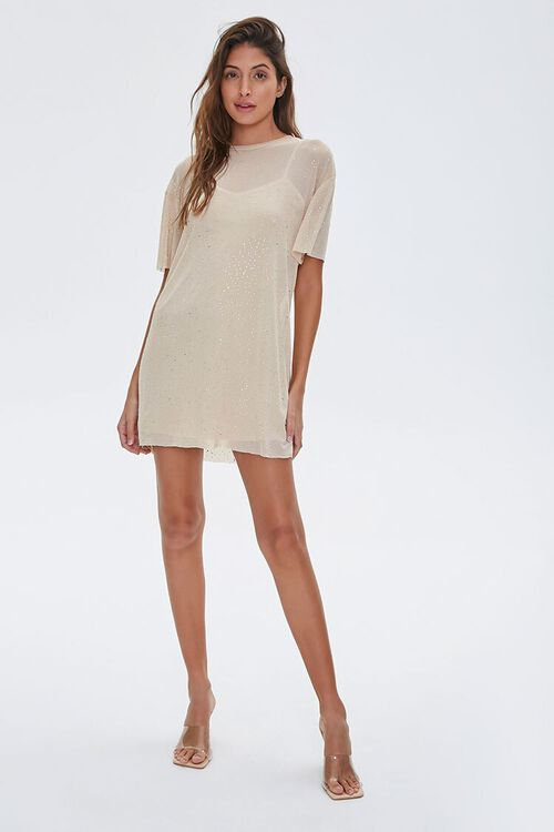 Metallic Pin Dot T-Shirt Dress, image 4