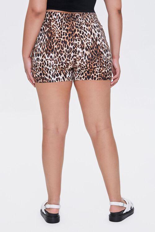 Plus Size Leopard High-Rise Biker Shorts, image 4