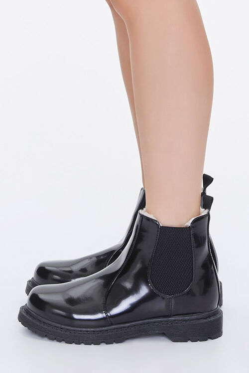 Faux Shearling Chelsea Booties, image 2