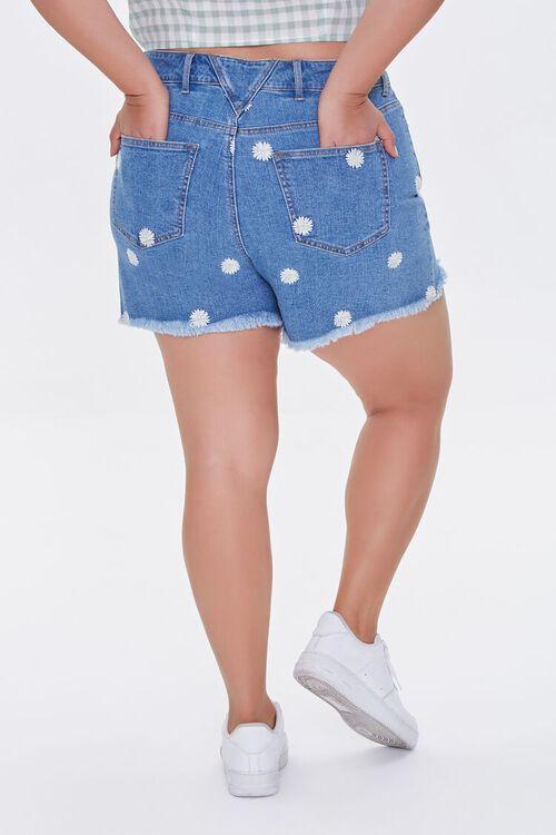 Plus Size Daisy Denim Shorts, image 4