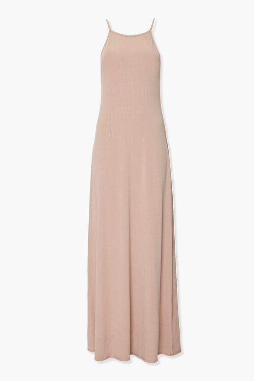Ribbed Knit Maxi Cami Dress, image 1